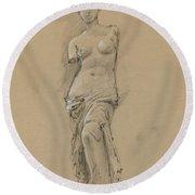 Venus De Milo Round Beach Towel