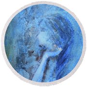 Venus Round Beach Towel
