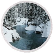Verdant Creek - Winter 6 Round Beach Towel by Stuart Turnbull
