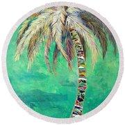 Verdant Palm Round Beach Towel