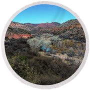 Verde Canyon Oasis Round Beach Towel