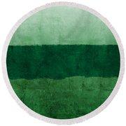 Verde Landscape 1- Art By Linda Woods Round Beach Towel
