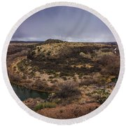 Verde River Horseshoe Round Beach Towel