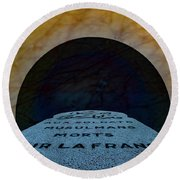 Round Beach Towel featuring the photograph Verdun, France - Muslim Memorial Marker by Mark Forte