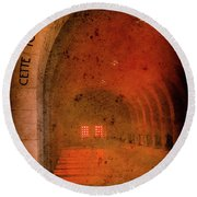 Round Beach Towel featuring the photograph Verdun, France - Ossuary Hall by Mark Forte