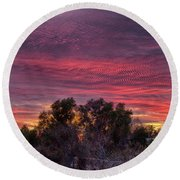 Verigated Sky Round Beach Towel