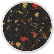Vermillion Explosion Round Beach Towel by Phil Strang
