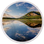 Vermilion Reflections Round Beach Towel