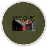 Vermont Again Round Beach Towel
