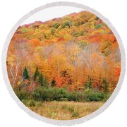 Vermont Foliage Round Beach Towel