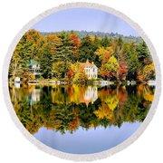 Vermont Reflections Round Beach Towel