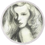 Veronica Lake Round Beach Towel