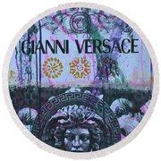 Versace Logo 2 Round Beach Towel