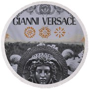 Versace Logo Round Beach Towel