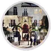 Versace Mansion South Beach Round Beach Towel