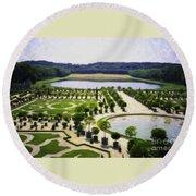 Versailles Digital Paint Round Beach Towel