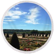 Versailles Palace Gardens Round Beach Towel by Therese Alcorn