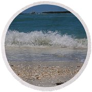 Round Beach Towel featuring the photograph Verses Out Of Rhythm by Michiale Schneider