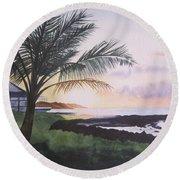 Version 2 Round Beach Towel by Teresa Beyer