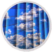 Round Beach Towel featuring the photograph Vertical Sky by Paul Wear