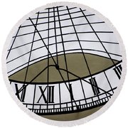 Vertical Sundial - Vertikale Sonnenuhr Round Beach Towel