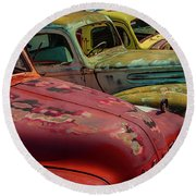 Very Late Models Round Beach Towel
