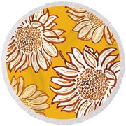 Very Vincent Round Beach Towel