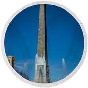 Veteran's Memorial Plaza Round Beach Towel