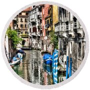 Viale Di Venezia Round Beach Towel by Tom Cameron