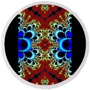 Vibrancy Fractal Cell Phone Case Round Beach Towel