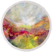 Vibrancy Round Beach Towel by Gail Butters Cohen