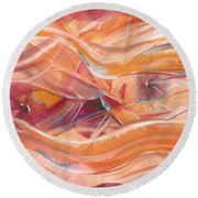Vibrant Silk Round Beach Towel