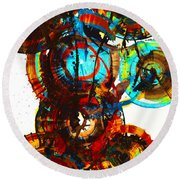 Vibrant Sphere Series 995.042312vsx2 Round Beach Towel