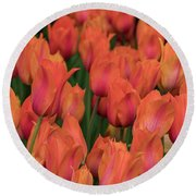 Vibrant Whispers Round Beach Towel