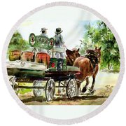 Victoria Bitter, Working Clydesdales. Round Beach Towel