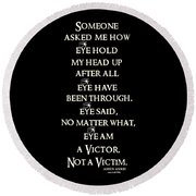 Victor Round Beach Towel