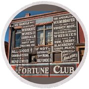 Victor Fortune Club Round Beach Towel