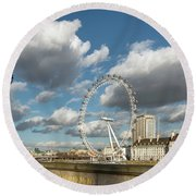 Victoria Embankment Round Beach Towel by Adrian Evans