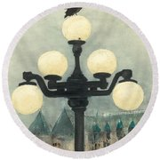 Victoria Evening Round Beach Towel