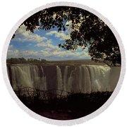 Victoria Falls, Zimbabwe Round Beach Towel