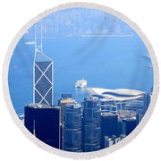 Round Beach Towel featuring the photograph Victoria Peak 2 by Randall Weidner