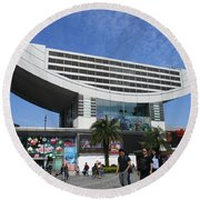 Round Beach Towel featuring the photograph Victoria Peak 3 by Randall Weidner
