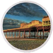 Round Beach Towel featuring the photograph Victoria Pier 1899 by Adrian Evans