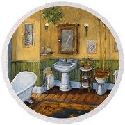 Victorian Bathroom By Prankearts Round Beach Towel