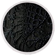 Victorian Mourning Cape Round Beach Towel