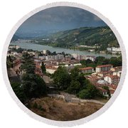 Vienne, France Round Beach Towel