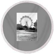 Viennese Giant Wheel Round Beach Towel