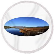 View At Cherry Pond Round Beach Towel