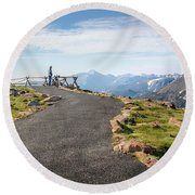 View At The Top Round Beach Towel