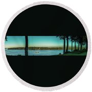 View From 11th Ave. Round Beach Towel